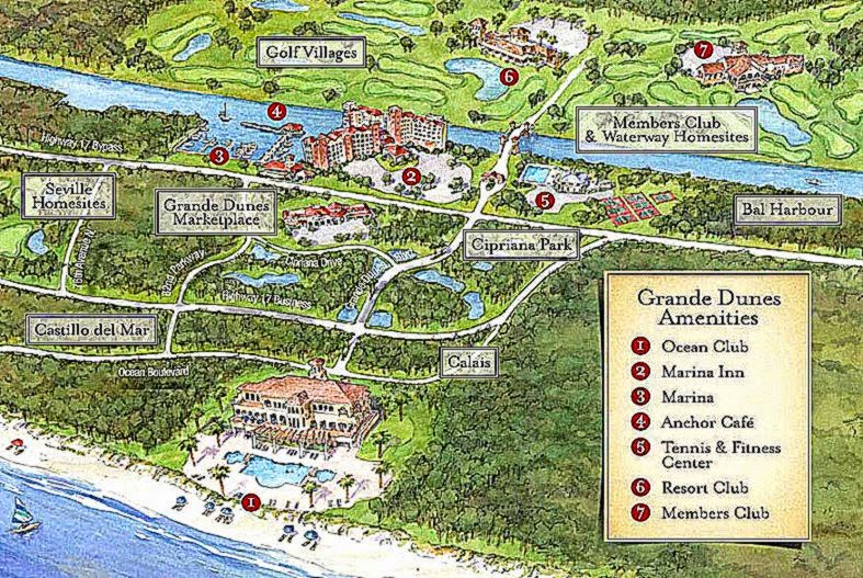 Grande Dunes Homes For Sale   Location  Myrtle Beach Real Estate