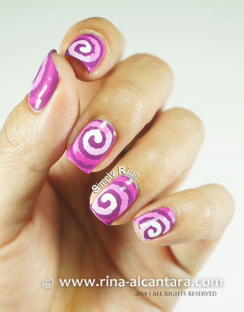 Radiant Orchid Color of the Year 2014 Nail Art Design