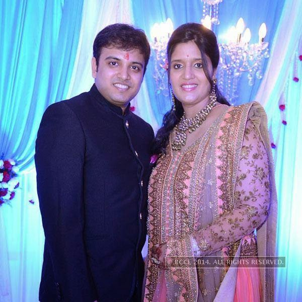 Ankit and Priyanka during Hridhan's cradle ceremony, in Hyderabad.