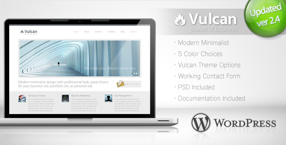 Themeforest Vulcan - Minimalist Business Wordpress Theme 4 v2.2