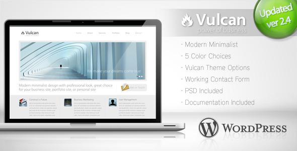 Themeforest Vulcan - Minimalist Business Wordpress Theme 4 v2.2