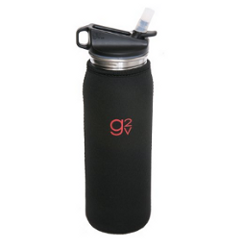 G2V Black Neoprene Bottle Insulator Sleeve