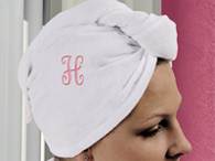 Personalized White Spa Head Wrap