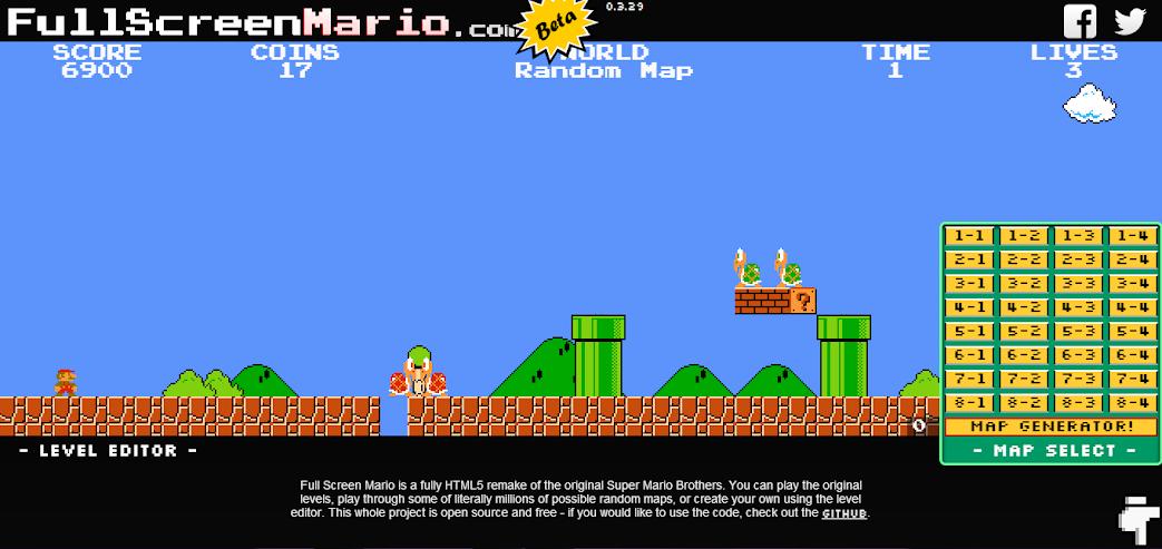 Mario map generator