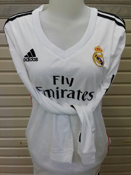 Jual Jersey Cewek Real Madrid Home Lengan Panjang 2014-2015