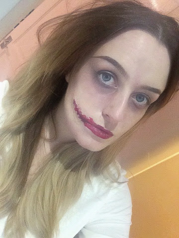 halloween, chelsea smile, brows, creepy, fake blood, ghoul, make up, halloween make up, crazy, bbloggers, bblogger, beauty blog