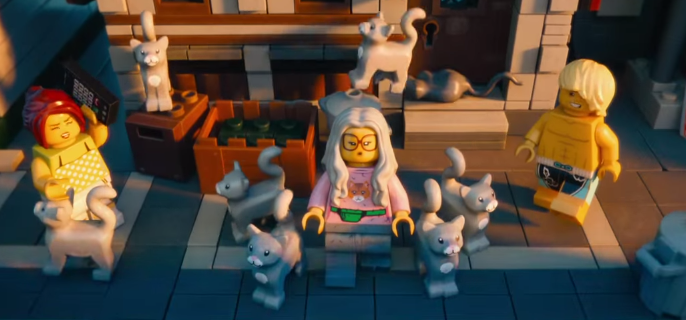 crazy cat lady in the lego movie