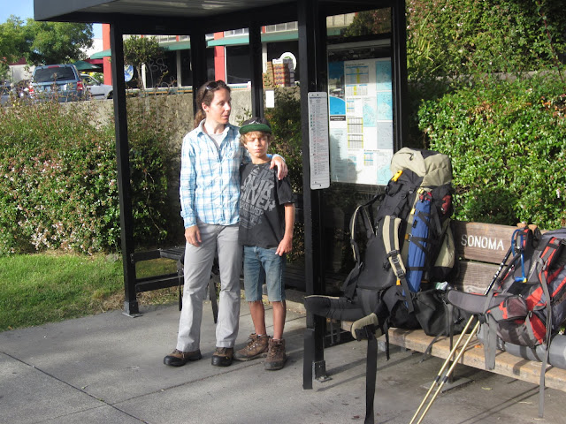 Waiting for the bus in Sebastopol