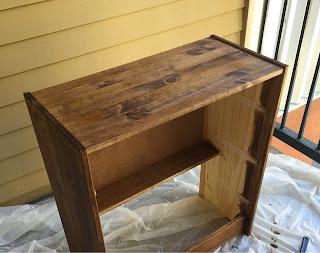 Staining Ikea Rast Cabinet