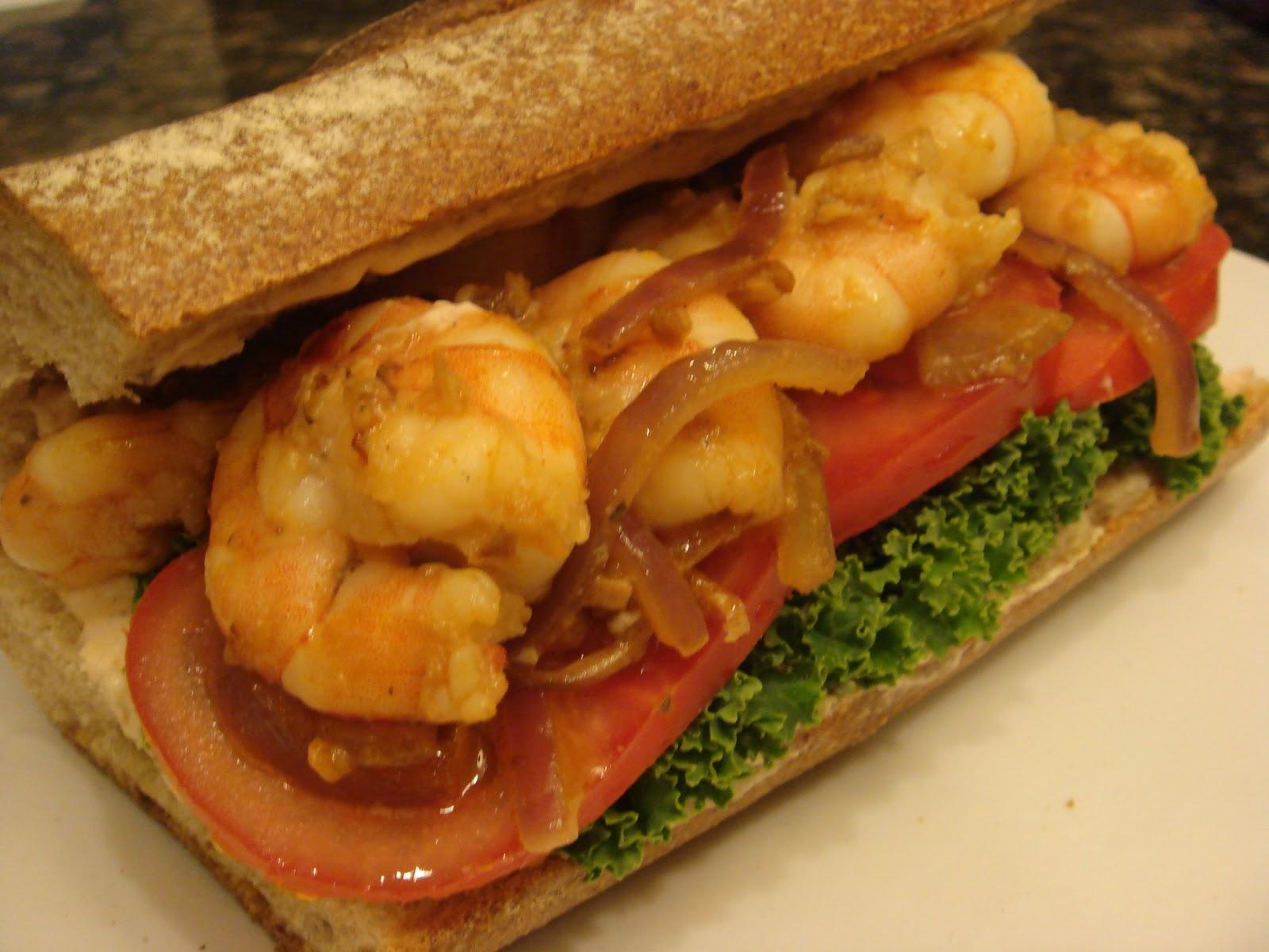 ... salmon with avocado remoulade shrimp po boy w spicy remoulade sauce