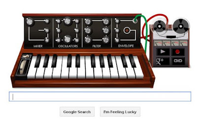 """Google doodle Pays Tribute Robert Moog 78th Birthday"""