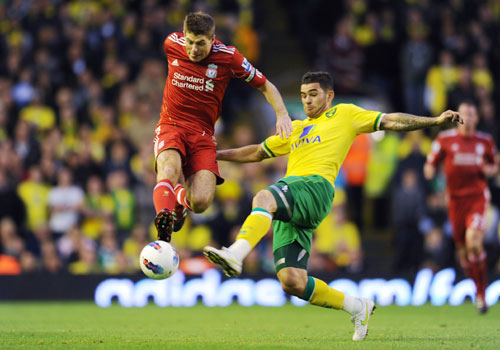 Steven Gerrard, Liverpool - Norwich
