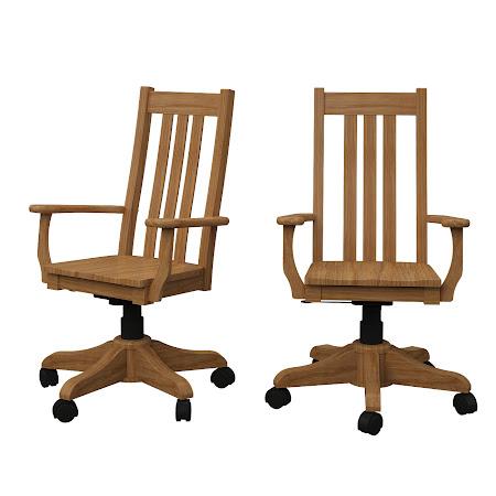 Winslow Office Chair in Oil & Wax Oak