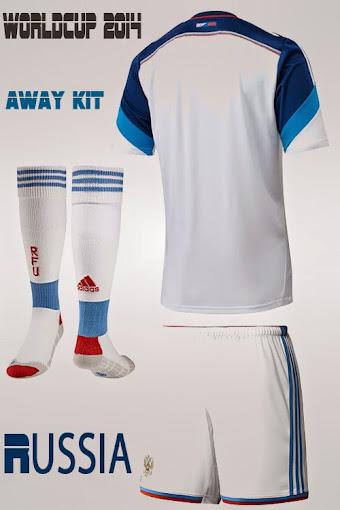 áo bóng đá nga sân khách