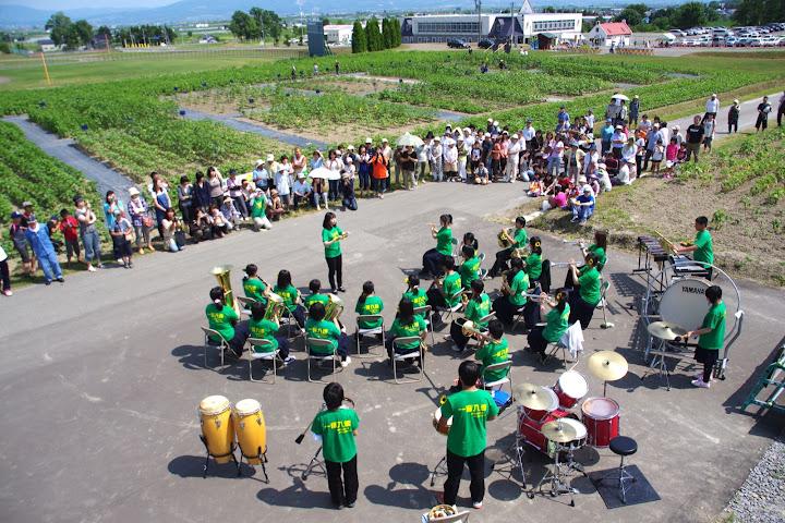 北竜中学校ブラスバンド演奏