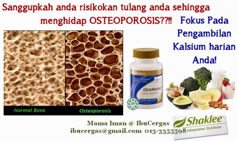 Osteoporosis Osteoporosis Ostematrix - Membantu Mengurangkan Risiko Osteoporosis Osteoporosis