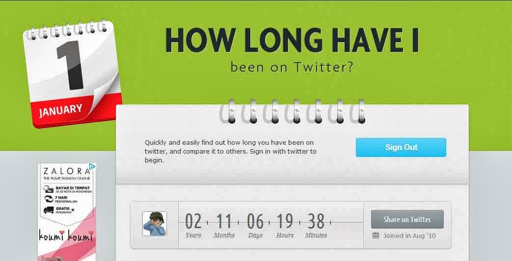Cara Cek Berapa Lama Memakai Akun Twitter