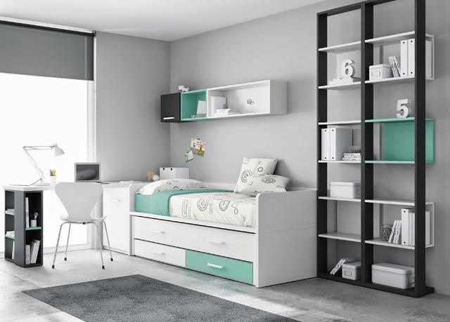 Cama compacta con cama desplazable for Habitaciones compactas