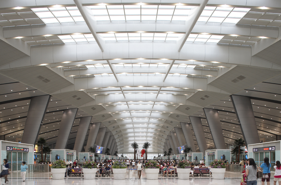 Beijing South Station design by TFP Farrells
