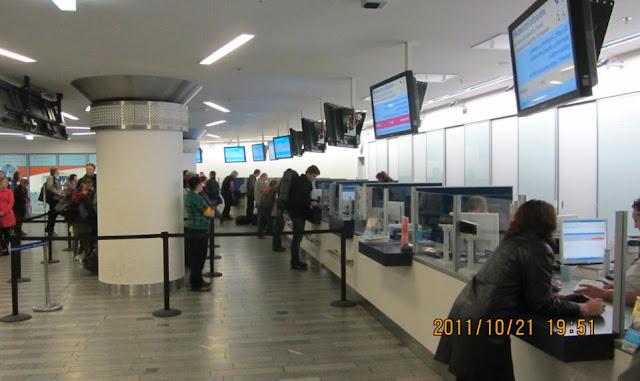 布拉格火車站購票櫃台