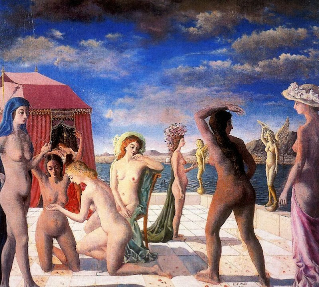 Paul Delvaux - The Courtesans, 1943
