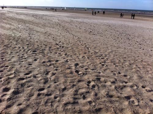 Plage mer du Nord Belgique la panne