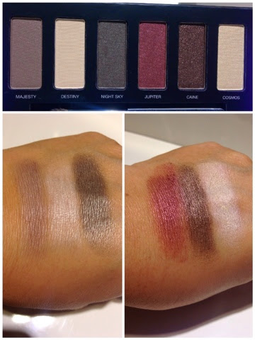 makeup swatch, eyeshadow, jupiter ascending, pur minerals