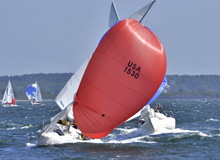 J/24 sailing in Casco Bay Maine