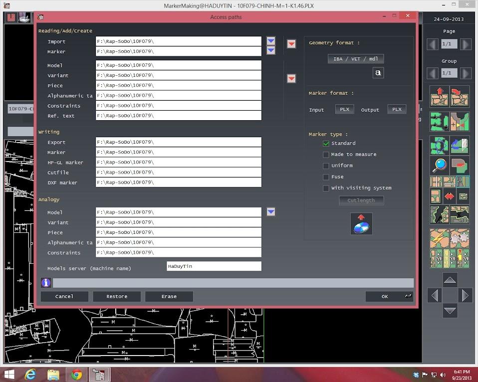 Sửa Lỗi Cannot connect to Modaris Server Trong Lectra Diamino 2