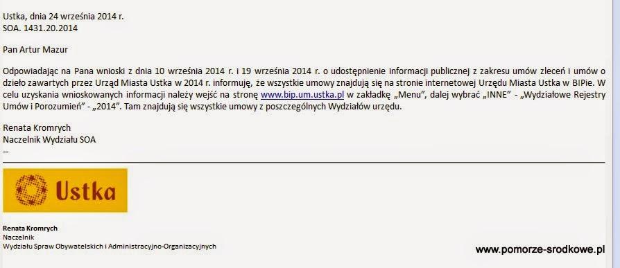 Scany rejestrów umów Ustki, za 2012-2013 rok