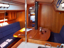 J/133 sailboat- interior main cabin