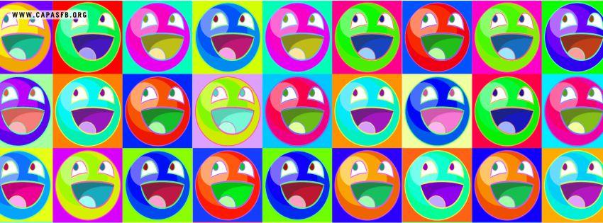 Capas para Facebook Memes Coloridos