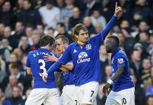 Nikica Jelavic, Everton - Tottenham Hotspur