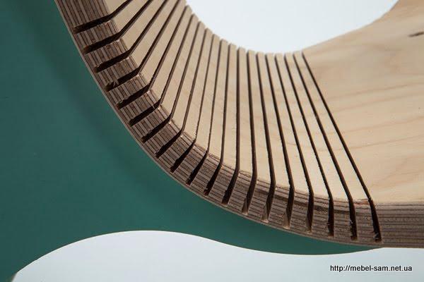 Способ создания гнутых элементов из фанеры - пропилы