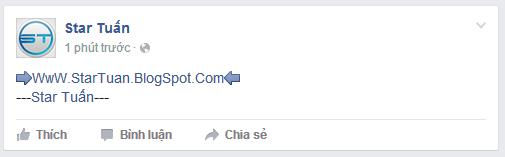 Hướng dẫn cách viết chữ màu xanh trên facebook