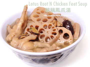 Lotus Root N Chicken Feet Soup