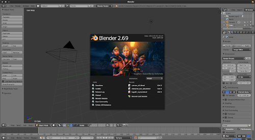 Blender 2.69 running on Xubuntu 13.10.
