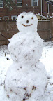snow person smiling