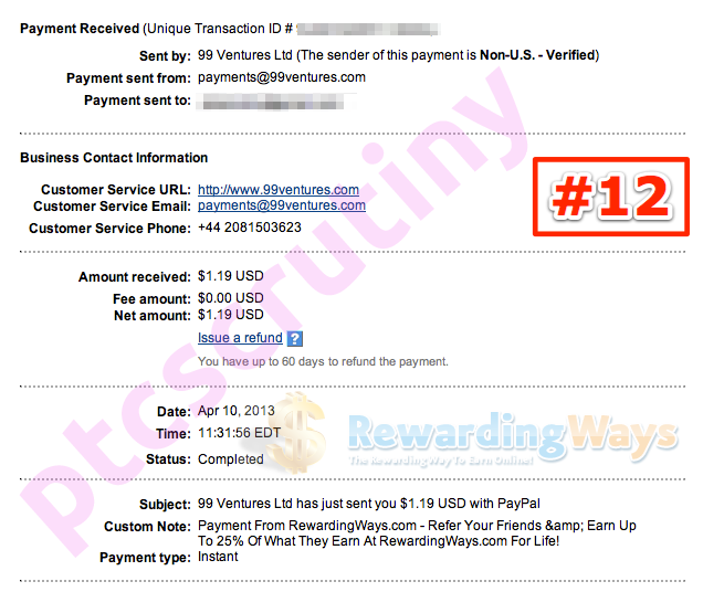 rewardingways payment proof