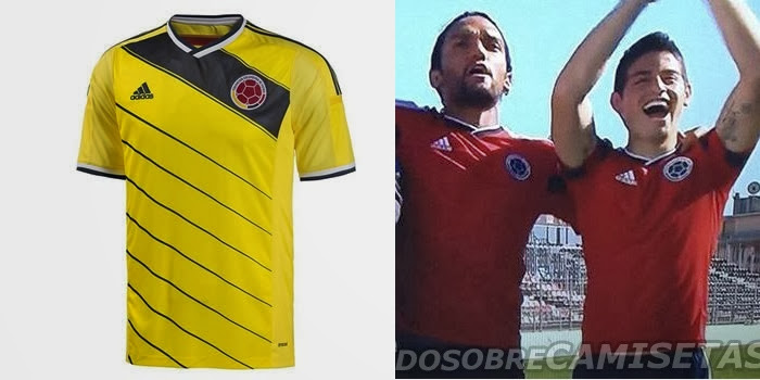 Colombia 2014 World Cup Home Kit Released