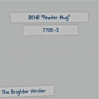 Behr - Pewter Mug 770E-3 interior paint color www.thebrighterwriter.blogspot.com