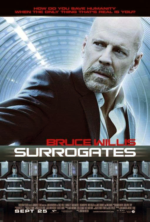 Poster Of Surrogates (2009) Full Movie Hindi Dubbed Free Download Watch Online At Alldownloads4u.Com
