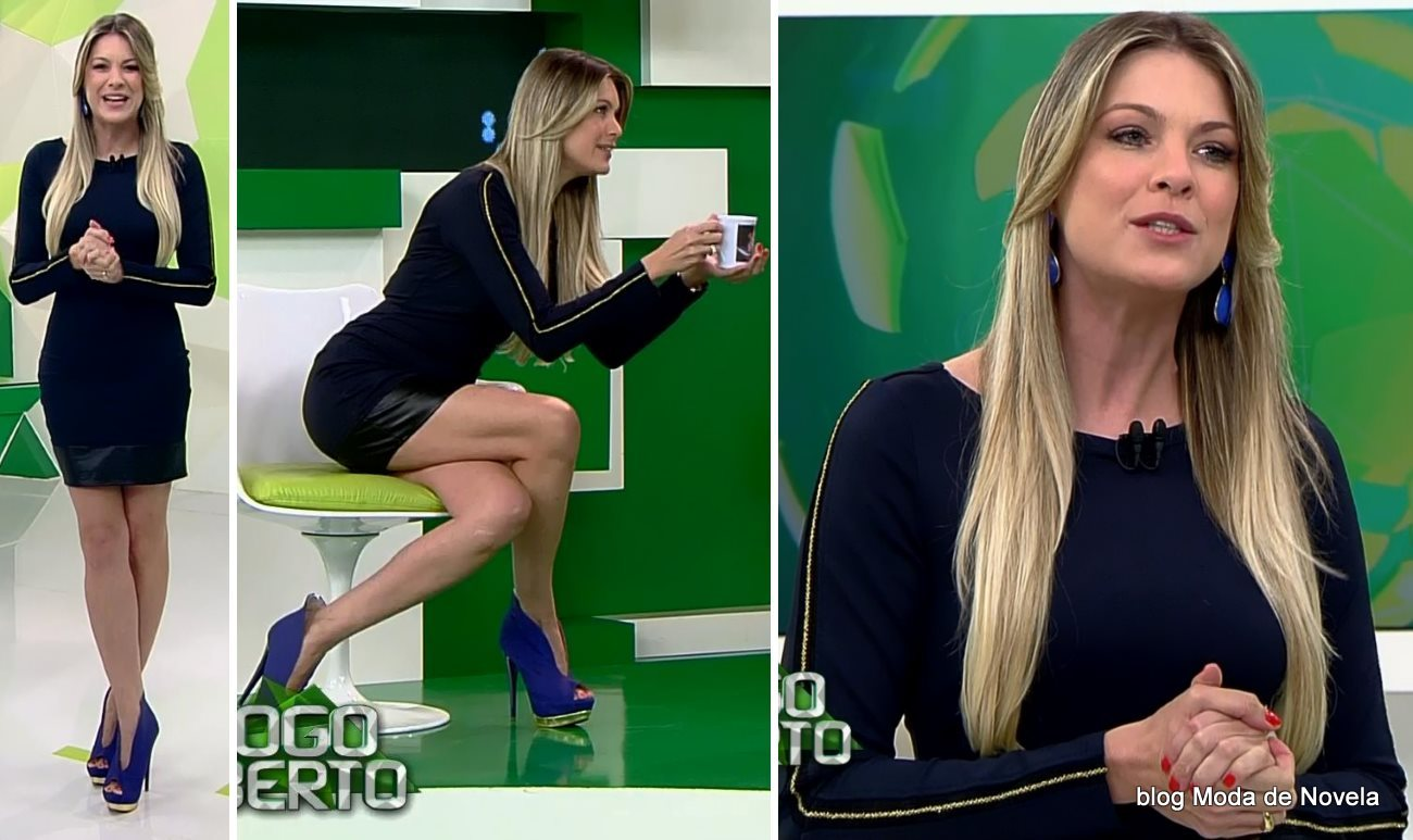 moda do programa Jogo Aberto - look da Renata Fan dia 28 de julho