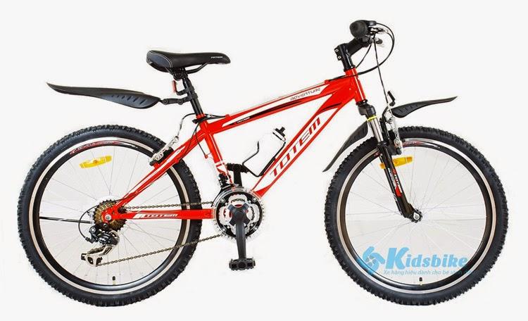 Bán xe đạp trẻ em Hà Nội giá rẻ - Xe đạp Totem 24MTB màu đỏ