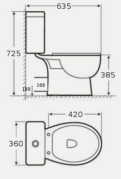wc toilette wc stand toiletten tiefsp ler toilette keramik toilette neu ebay. Black Bedroom Furniture Sets. Home Design Ideas