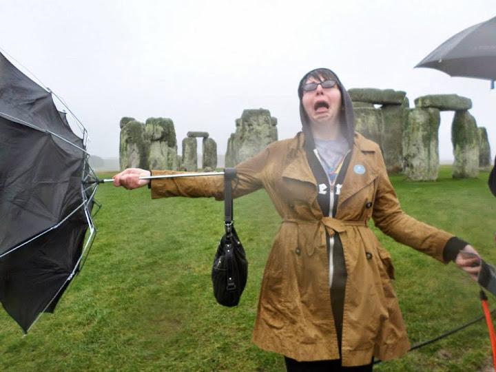 Jamie Bergey at Stonehenge. From Film Studies International Interning in London: Jamie Bergey