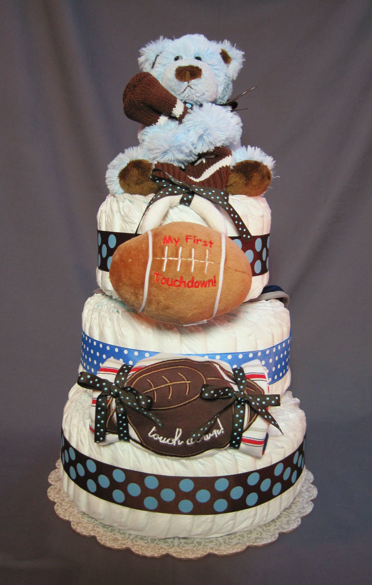 Future Football All-American Large 3 Tier Diaper Cake