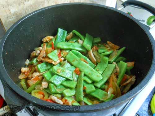 Как приготовить стручковую фасоль с мясом