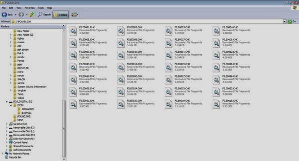 Mengembalikan Nama Folder yang Menjadi Kotak-KotK