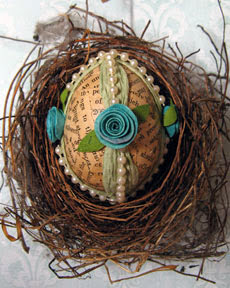 shabby chic egg photo